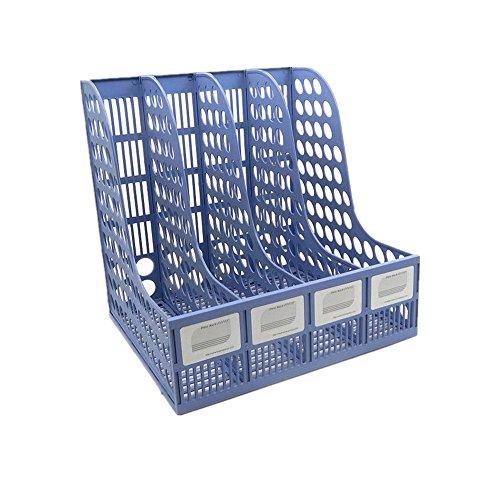 Funnylive Plastic Compartments Magazine Organizer Blue