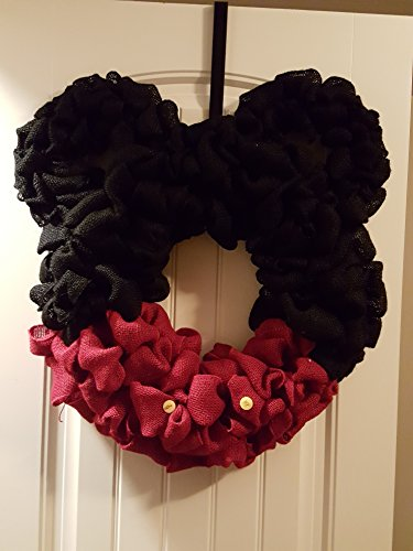 Mickey Mouse Wreath (Burlap)
