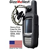 Garmin Rino 655t 650 CASE in 'Special Ops Black' Made in the USA Search 'GizzMoVest' for all models.