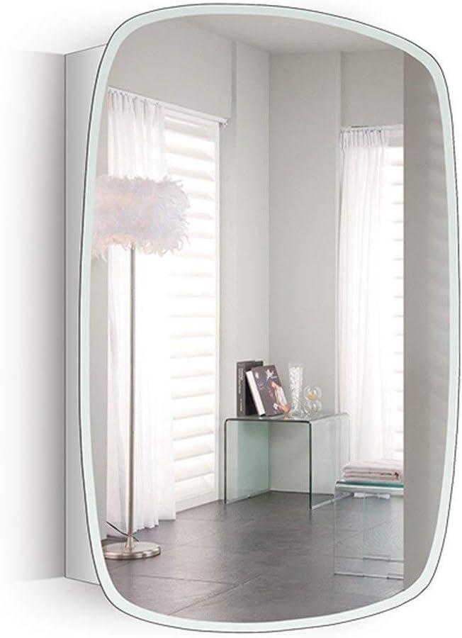 Armarios con espejo Espejo De Baño Gabinete Espejo del Acero Inoxidable Gabinete Multifunción Espejo De Baño Gabinete Espejo Rectangular Gabinete (Color : Right Door, Size : 50 * 70 * 13cm): Amazon.es: Hogar