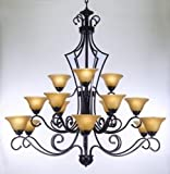 Cheap Large Foyer Or Entryway Wrought Iron Chandelier H51″ X W49″