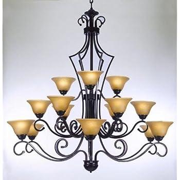 Large foyer or entryway wrought iron chandelier h51 x w49 large foyer or entryway wrought iron chandelier h51 x aloadofball Choice Image