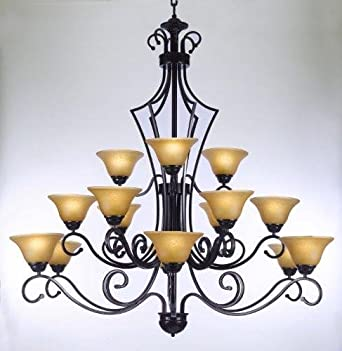 Large Foyer Or Entryway Wrought Iron Chandelier H51 X W49