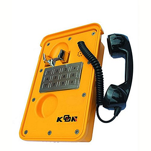 KNTECH KNSP-11 Waterproof Telephone Yellow for Indoor or Outdoor with Metal Keyad ,Yellow