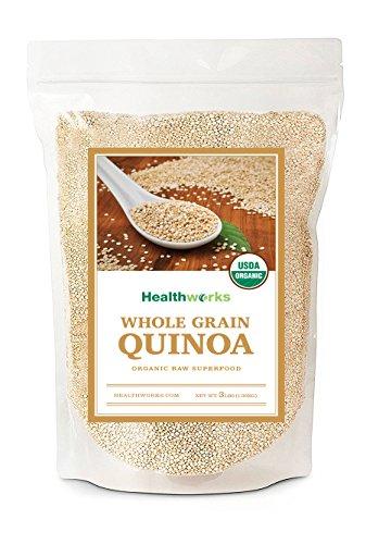 Healthworks Quinoa White Whole Grain Raw Organic, 3lb