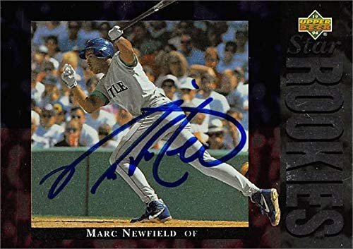 Marc Newfield autographed Baseball Card (Seattle Mariners, SC) 1994 Upper Deck #22 - MLB Autographed Baseball -