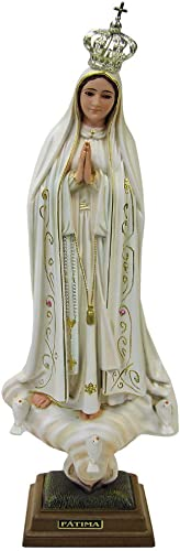 20 Inch 50 cm Our Lady of Fatima Statue Religious Figurine Virgin Mary Madonna Made in Portugal Old Paint 1035V