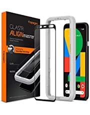 SPIGEN Tempered Glass Screen Protector Glas.tR AlignMaster for Google Pixel 4 XL, Alignment Frame, Edge to Edge Protection, Case Friendly, 9H tempered Glass, Pixel 4 XL Screen Protector, 2 Pack