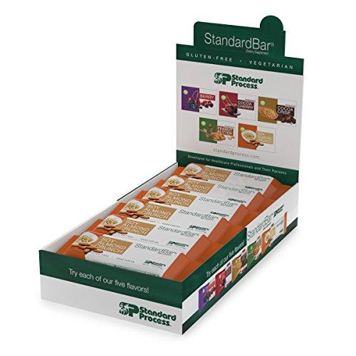 Standard Process Almond Crunch StandardBar High-Protein 15 Protein with Calcium, Magnesium, Gluten Free Vegetarian