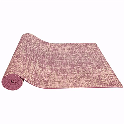 Piega Yoga Ispessimento Rosso Allungare Celeste Slip Millimetri Resistente 0 Vino Lino Friendly 5 Fitness Mat Bluelover Eco EqCnwzxXn