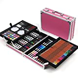 JIANGXIUQIN Artist Art Drawing Set, The Art Collection Creates Watercolor, Color Drawing Tools, and 168 Sets of Luxury Boxes Cover Up, Will Not Hurt Clothing and Skin Gifts for Children and Children.