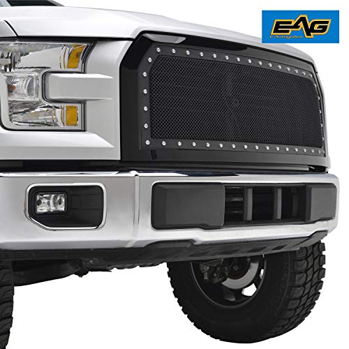 EAG Rivet Stainless Steel Wire Mesh Grille Fit for 2015-2017 Ford F-150