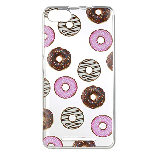 Qiaogle Teléfono Caso - Funda de TPU silicona Carcasa Case Cover para Huawei Honor 6X (5.5 Pulgadas)(2016) - HX28 / Horse HX30 / Donuts