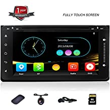 DVD Car Stereo with Bluetooth and Navigation for Toyota Universal Car GPS 6.95 inch Full Touch Screen Head Unit...