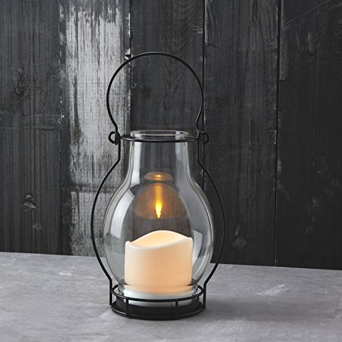 Outdoor Solar Flameless Candle Lanterns, 10.5
