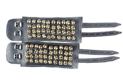 fashionAtelier 4 line Leather Bharatanatyam anklets bells Ghungroo(410 ghungroo)