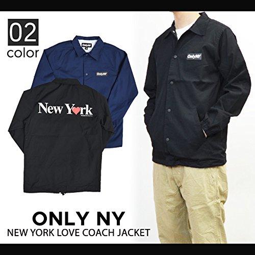 c6169254f553 Amazon | (オンリーニューヨーク) ONLY NY NEW YORK LOVE COACH JACKET コーチジャケット Lサイズ  BLACK (並行輸入品) | コート・ジャケット 通販