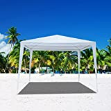 Mefeir VINGLI 10'x30' Canopy Party Wedding Tent with 8 Removable Panels Sidewalls,Upgraded Steel Tube Waterproof Sun Shelter Anti UV Protection Outdoor Canopy (10'x10' tent)
