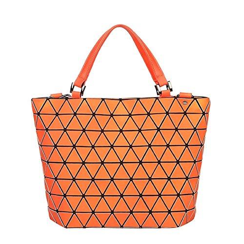 Chameleon Seau Variety Matelassé Sac Orange Sac Main Femmes Pliable Matte Géométrique Sac épaule à Bandoulière à qvvtw76