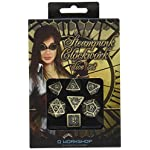 Q-Workshop Steampunk Clockwork Beige & brown Dice Set (7 Piece) 6