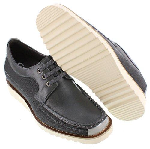 calto–g631328,1cm größer die Höhe Steigerung Aufzug shoes-grey Schnür Freizeitschuhe
