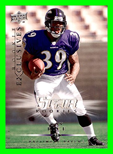 (2008 Upper Deck Rookie Exclusives #RE42 Ray Rice BALTIMORE RAVENS RUTGERS SCARLET KNIGHTS)