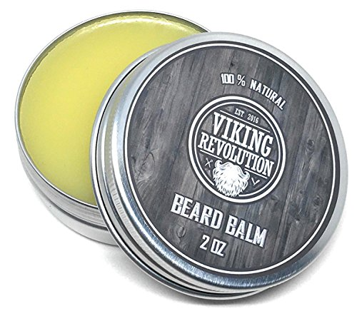 BEST DEAL Beard Balm with Argan Oil & Mango Butter - Styles, Strengthens & Softens Beards & Mustaches - Citrus Scent Leave in Conditioner Wax for Men by Viking - Beards Styles