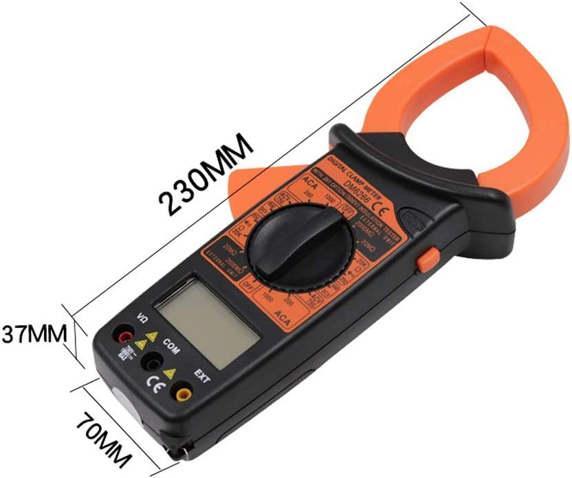 ZITENGZHAI-multimeter DM6266 2000 Counts Professional Digital Clamp Meter Digital Ammeter AC//DC Voltage Current Tester Resistor Diode Continuity Test NCV