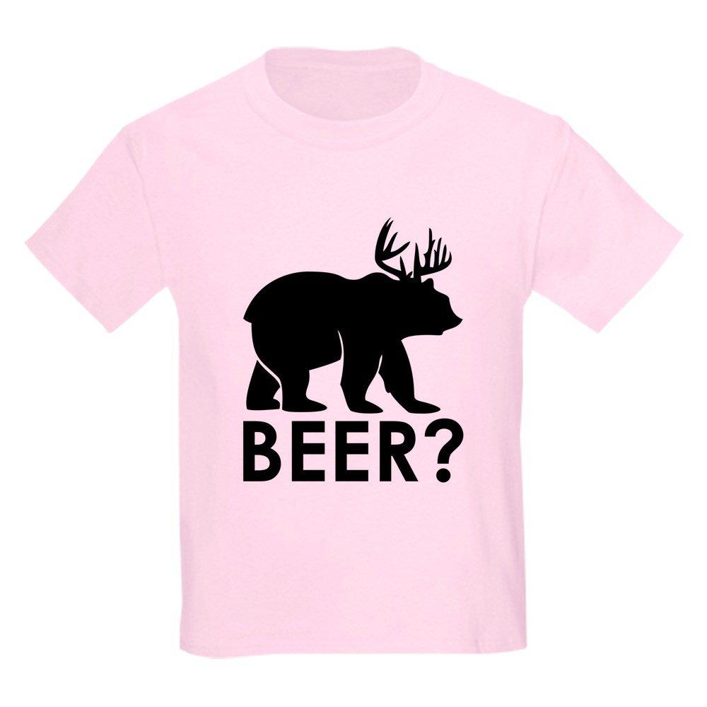 Truly Teague Light Tshirt Deer Plus Bear Equals Beer! Light Pink