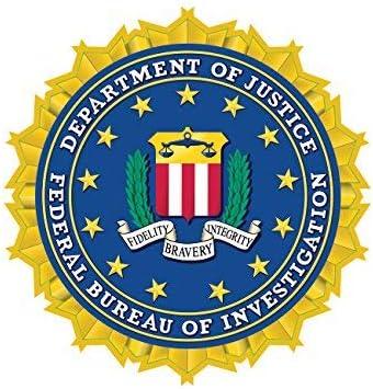 Department of Justice FBI Sticker Decal SelfAdhesive Vinyl Car Sticker Waterproo