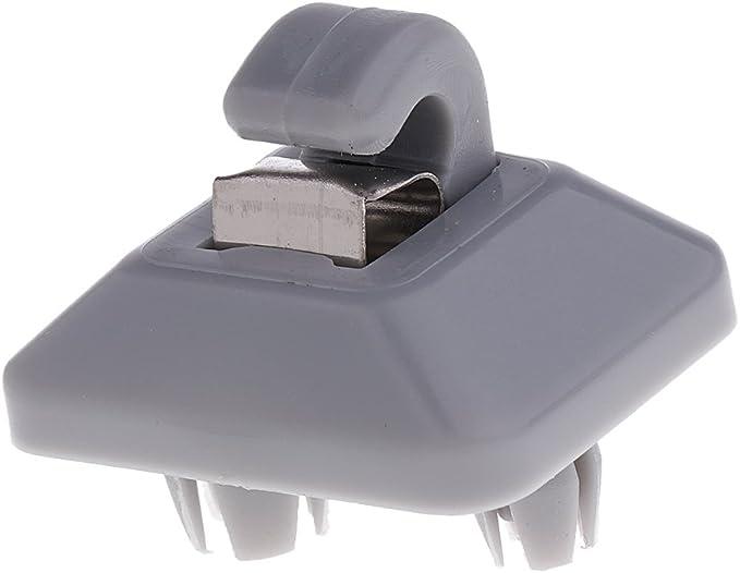 Homyl 1xClip Parasol Soporte Interno Coche Sun Visor Clip Gancho Ajustable Sostenedor gris