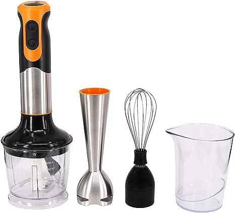 Moonvvin Batidora eléctrica 4 en 1 de mano, multifunción, batido de leche, pasta de arroz, batido de huevo, palo de cocina: Amazon.es: Hogar