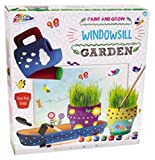 Paint & Grow Your Own Windowsill Garden Ceramic Flower Pot Real Grass Garden Tools Play Set Art Toy