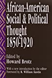 img - for African-American Social and Political Thought: 1850-1920 book / textbook / text book