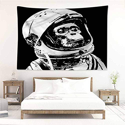 Sunnyhome DIY Tapestry,Outer Space Chimpanzee in Costume,Wall Hanging Carpet Throw,W90x59L]()