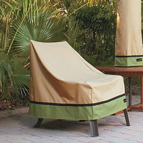 Amazon Com Sure Fit High Back Xl Patio Chair Cover Taupe Patio
