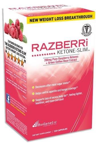 Biogentec Razberri cétoniques Slim cétones de framboise et vert pur Coffee Bean Extract 120 ct.