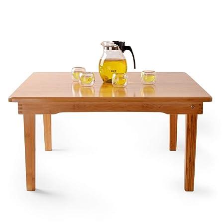 Weq Mesa de centro plegable pequeña mesa cuadrada Balcón ...