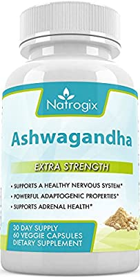 Natrogix Advanced Ashwagandha 1000mg Formula - Supports a Healthy Nervous System, Powerful Adaptogenic Propertes, & Adrenal Health
