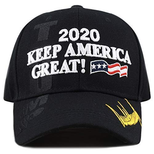 - The Hat Depot Exclusive 45th President Trump Make America Great Again 3D Cap (2020Trump-Black)