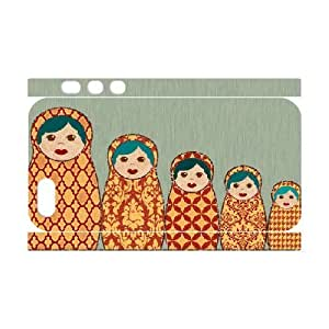 3D IPhone 6 plus Case Red and Yellow Matryoshka Nesting Dolls Protective Cute for Girls, Apple iphone 6 plus Case SMMNKOL?, [White]