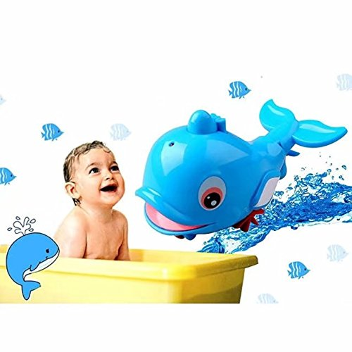 Cute Swimming Dolphin Spray Water Bath Toys for Baby Bath Funtime ; Durable Floating Bathtub Sprayer Shower Rotating (Abc 13 Days Of Halloween)