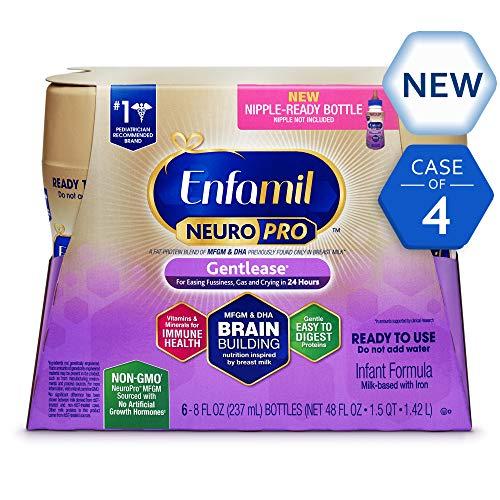 Enfamil Gentlease baby formula Ready-to-Use, 8 fl oz Bottles