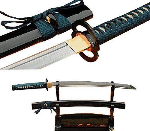 Lyuesword Japanese Handmade Folded Steel Wakizashi Sword Real Sharp