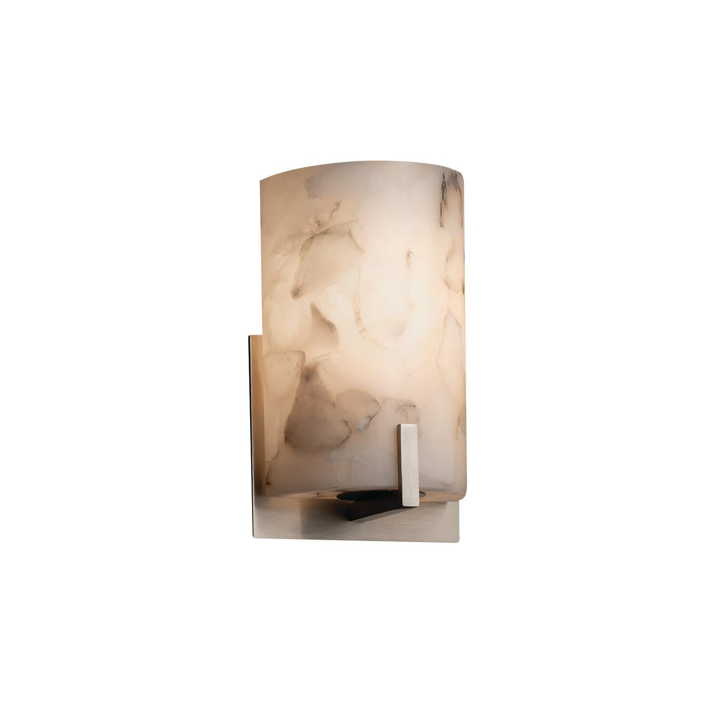 Justice Design Group Lighting ALR-5531-NCKL-LED1-700 Century ADA 1-Light Wall Sconce-Alabaster Rocks-LED Brushed Nickel