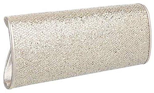 MYWY - Pochette elegante donna elegante con tracolla catenella L cm 26 H cm 11 L cm 6-oro-Taglia unica