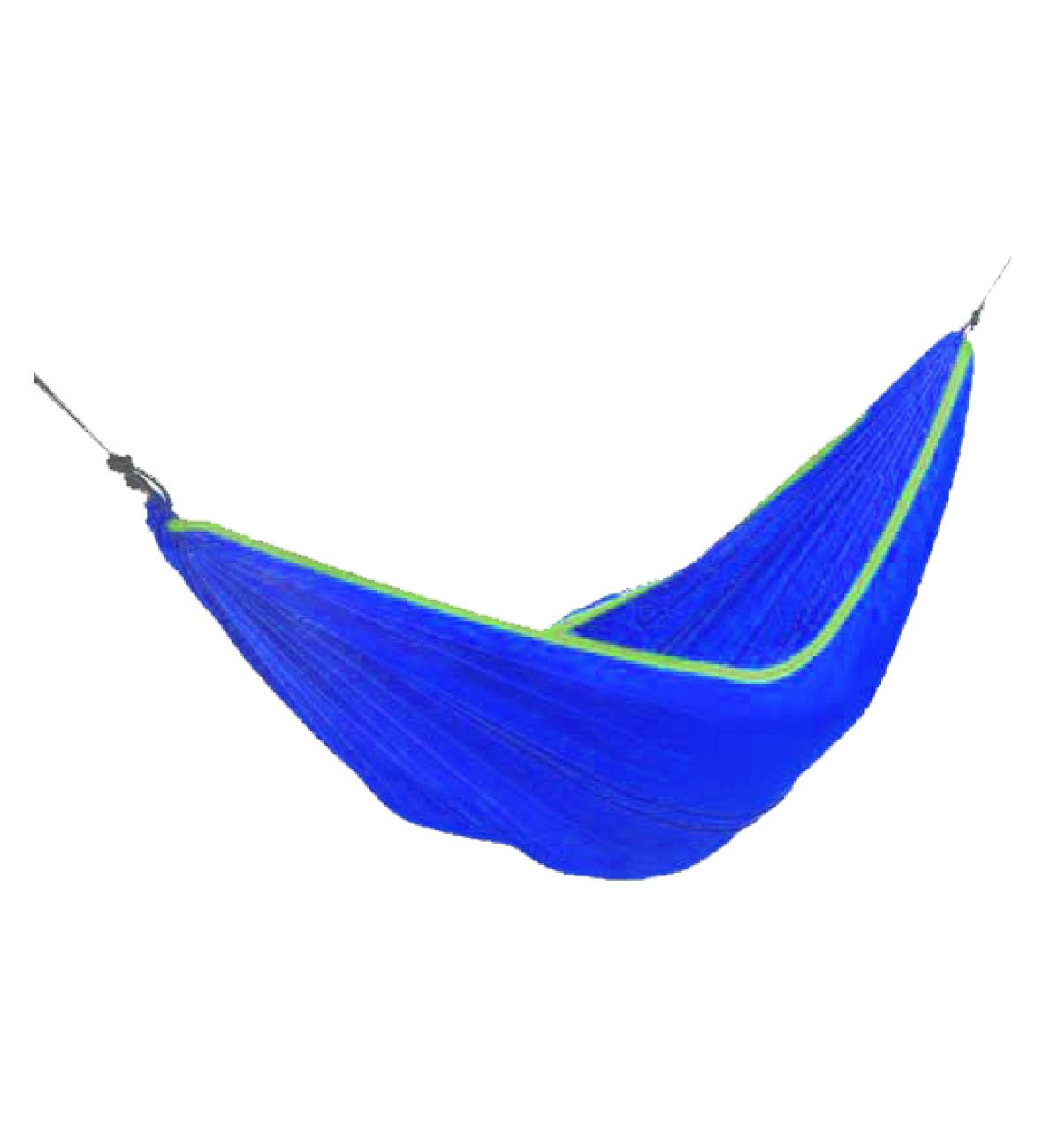 Simple Spring, Summer, Autumn Used Portable Polyester Multi functional Blue Hammock For Backpacking, Camping, Travel, Bench, Yard and Garden. Easy to storage and carry