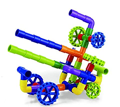 Tube Racer-Pipes & Wheels- Colorful Building Toys- Fun- Educational- Safe for Kids- Develops Motor Skills- Pipeworks Construction Blocks- STEM- Indoor/Outdoor Play-Tube Locks- Safe by (Playtube Free)
