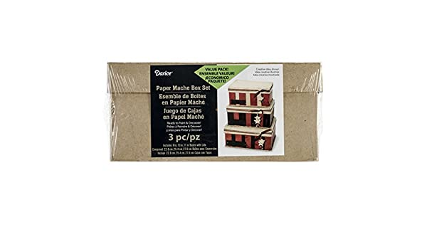 Amazon.com: Darice Paper Mache Rectangle Box Set 8 Inches 9 Inches and 10 Inches (3 Pack): Garden & Outdoor