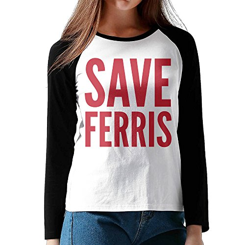 Women Save Ferris Cotton Long Sleeve Raglan T Shirt Small